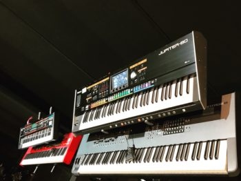 Roland Juno G and Jupiter 80, Nord Stage 2 EX, Yamaha Montage 8